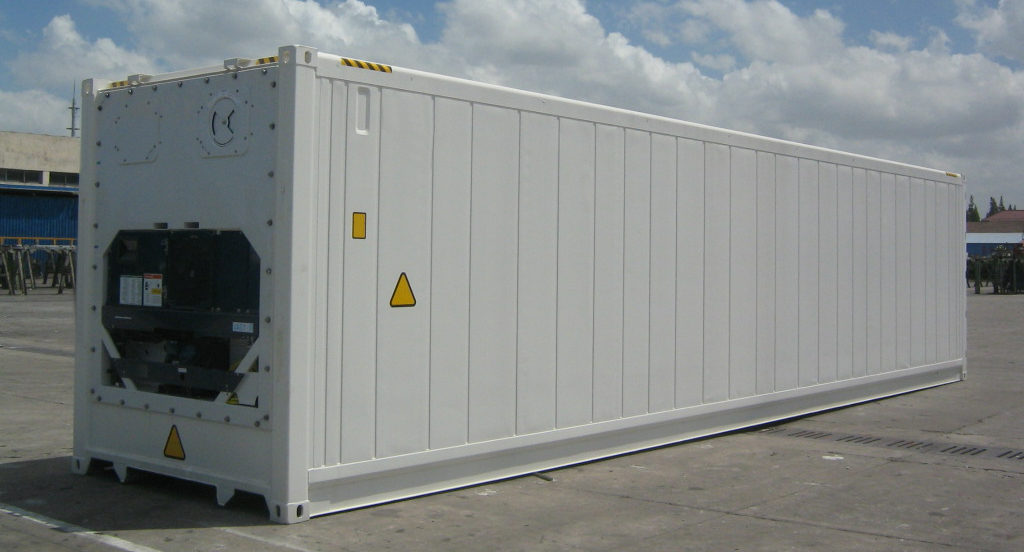 Refrigerated shipping containers, reefers