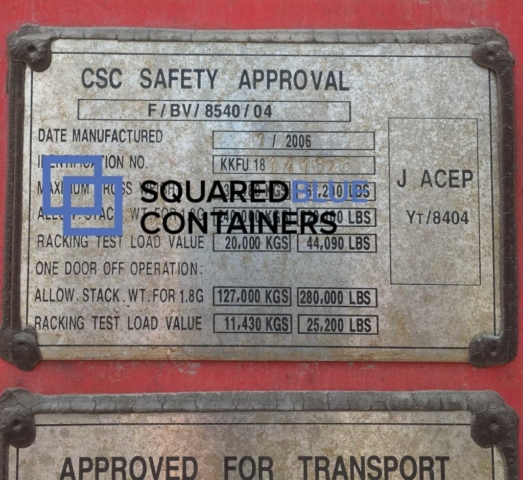 40ft CSC container