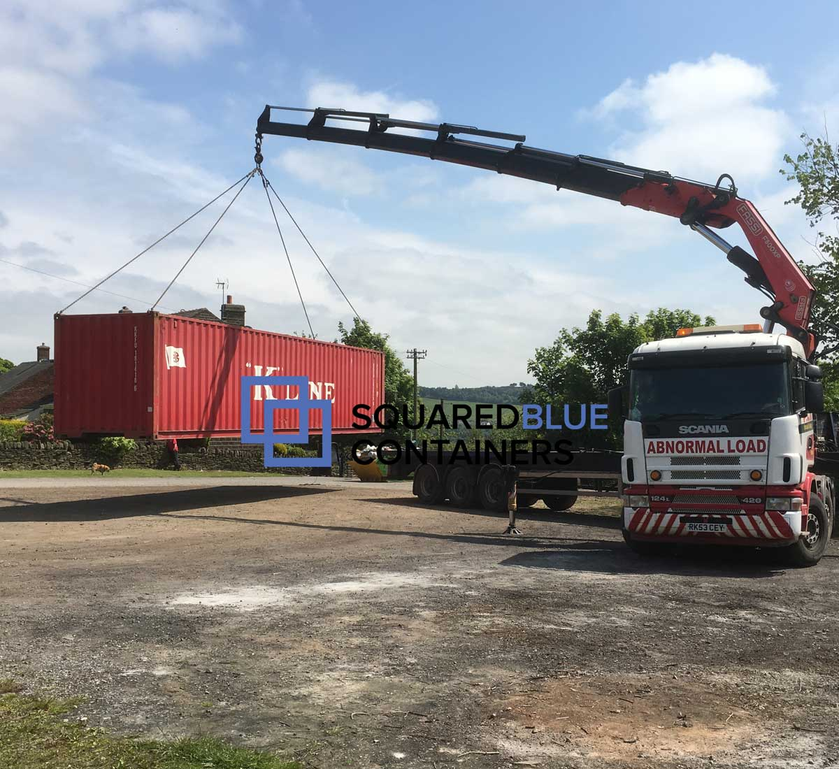 40ft container delivery