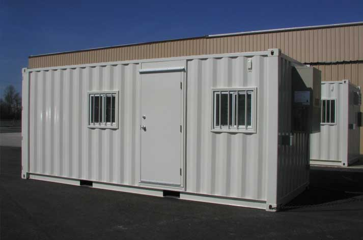 Shipping containers as site offices